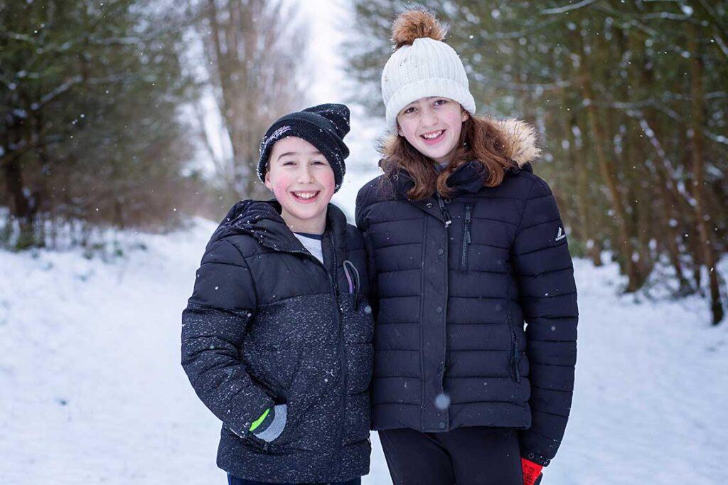 snowy photo shoot
