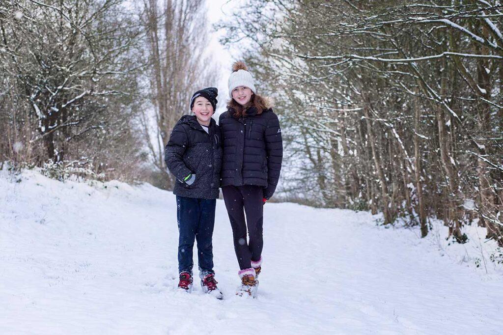 snow photo shoot Basildon